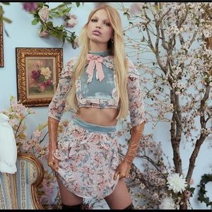 For Love and Lemons Blossom crop set: NWT